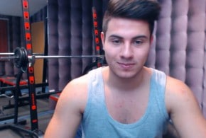 Handsome Webcam Guy Jerking Off