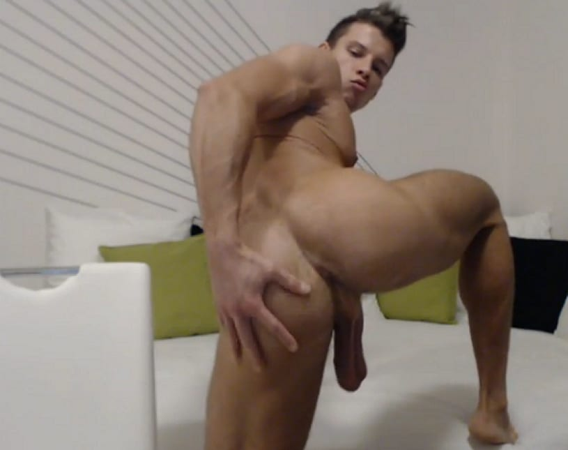 Hot Stud Showing Asshole
